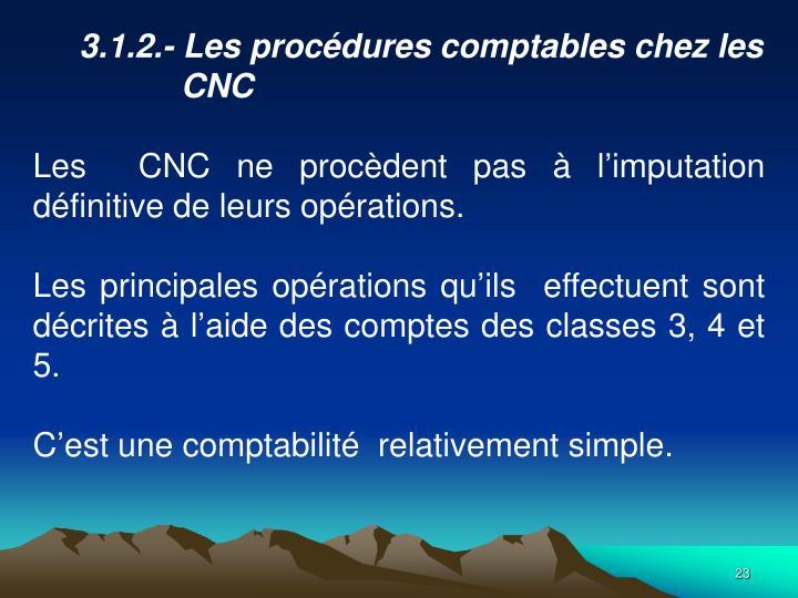 3.1.2.- Les procdures comptables chez les CNC