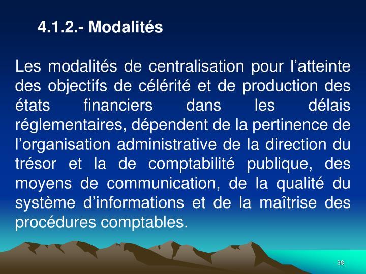 4.1.2.- Modalits