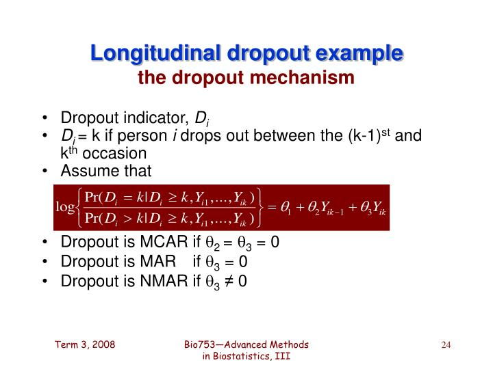 Longitudinal dropout example