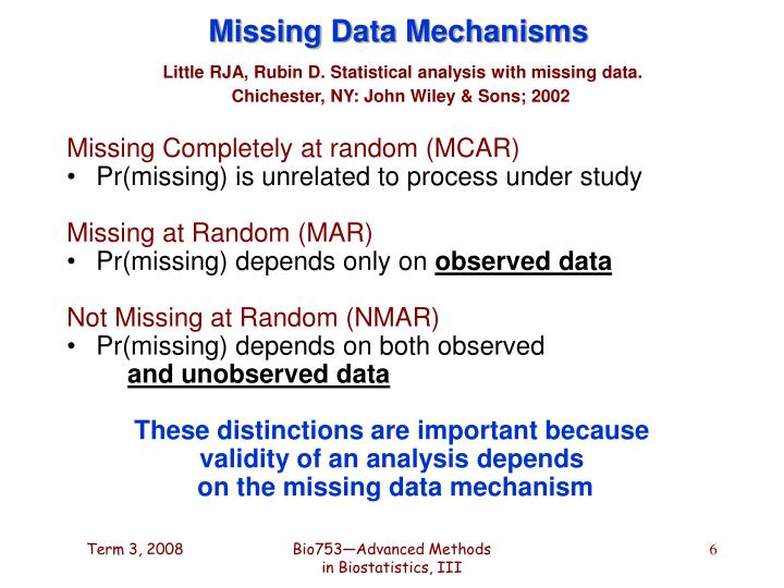 Missing Data Mechanisms