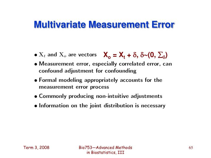 Multivariate Measurement Error