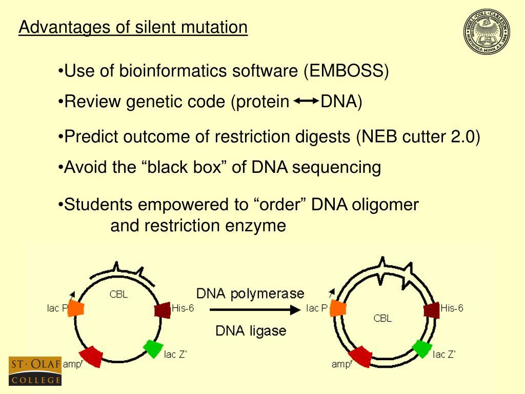 Advantages of silent mutation
