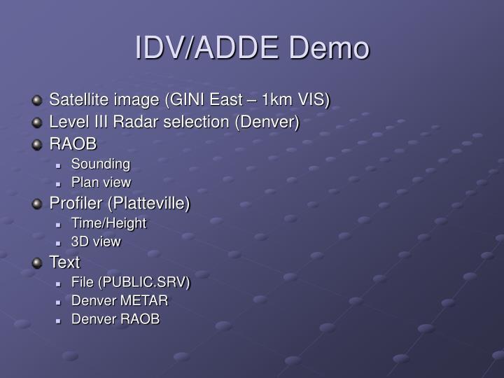 IDV/ADDE Demo