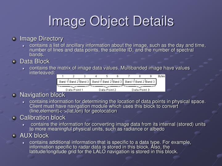 Image Object Details