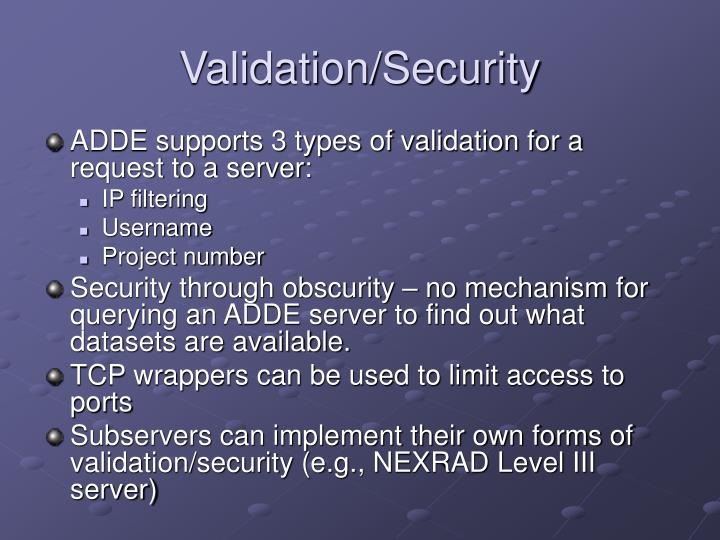 Validation/Security