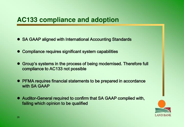 AC133 compliance and adoption