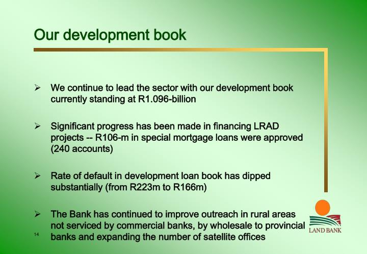 Our development book