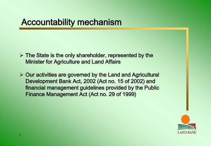 Accountability mechanism