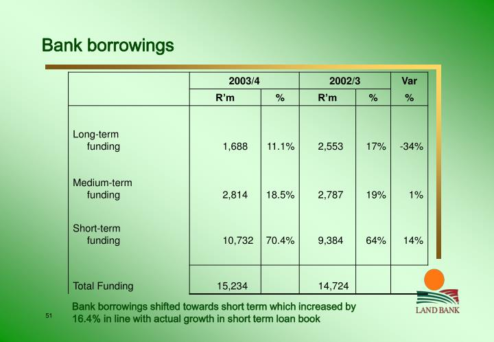 Bank borrowings