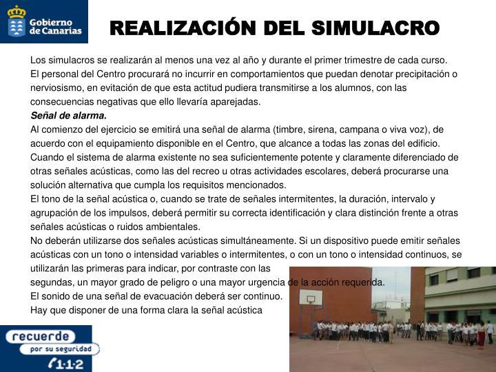 REALIZACIÓN DEL SIMULACRO