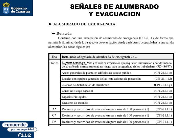 SEÑALES DE ALUMBRADO