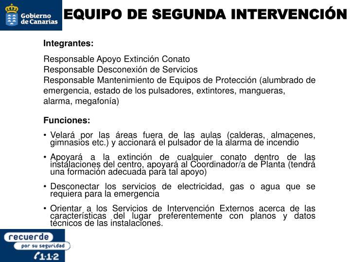 EQUIPO DE SEGUNDA INTERVENCIÓN