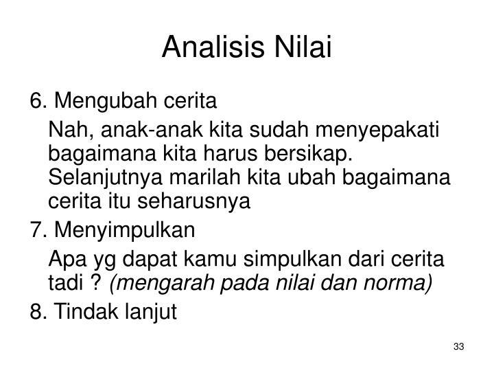 Analisis Nilai