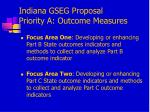 indiana gseg proposal priority a outcome measures