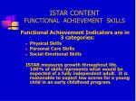 istar content functional achievement skills