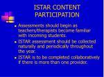 istar content participation