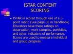 istar content scoring