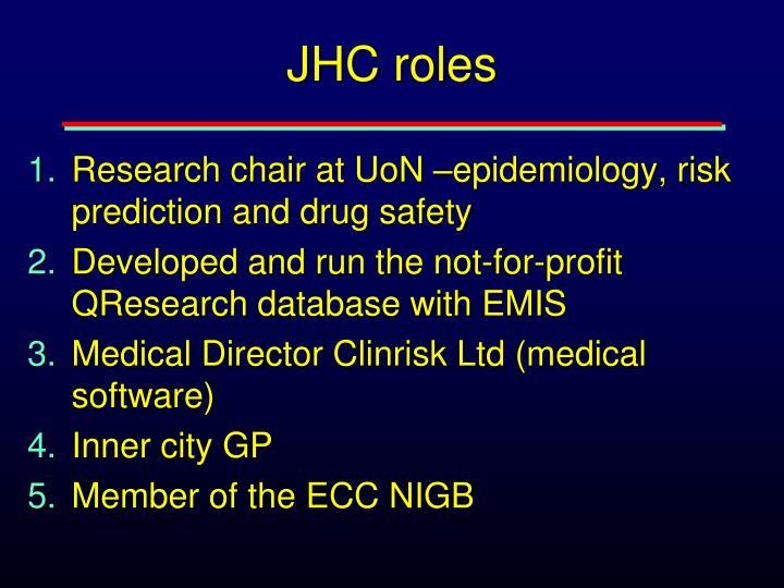 JHC roles
