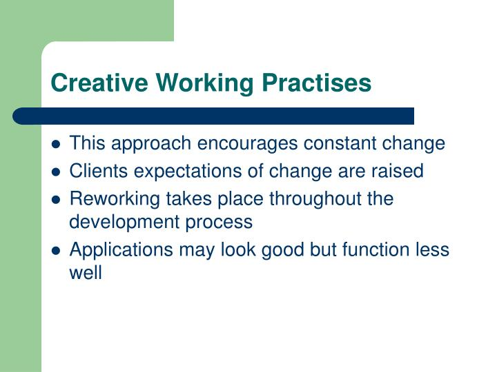 Creative Working Practises