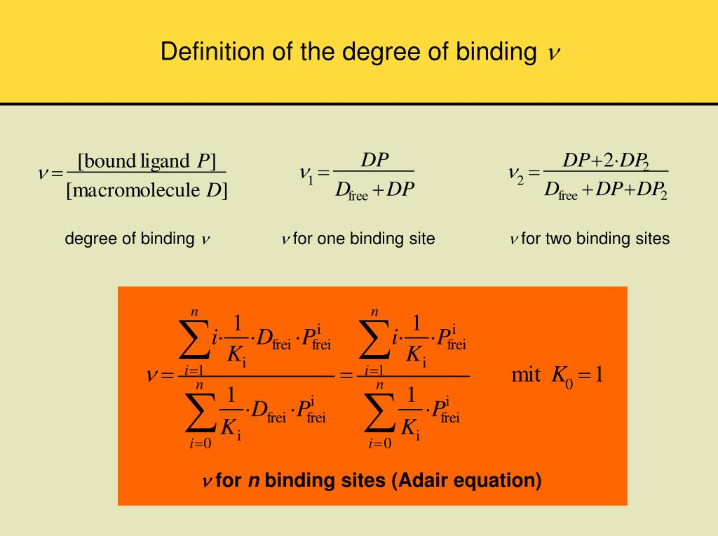 Definition of the degree of binding