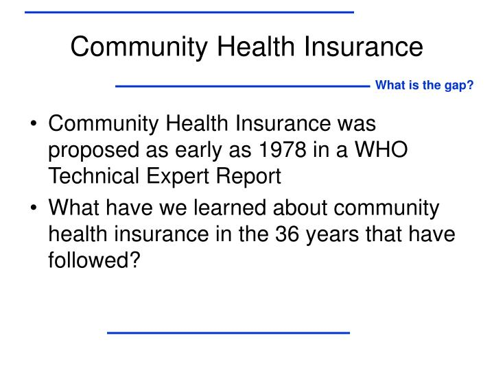 Community Health Insurance