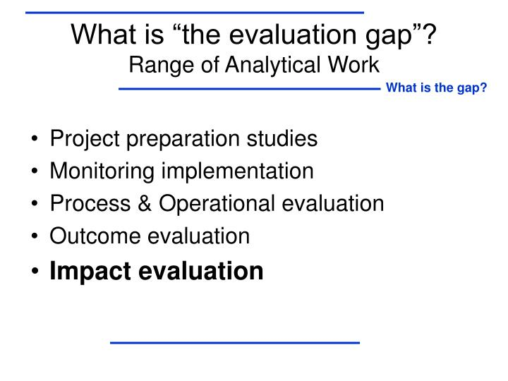 "What is ""the evaluation gap""?"