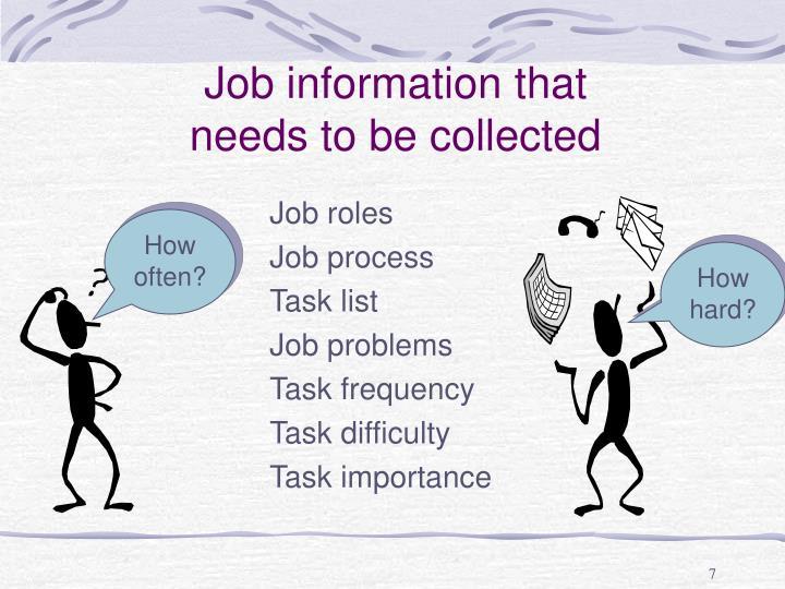 Job information that