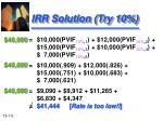 irr solution try 10