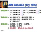 irr solution try 15