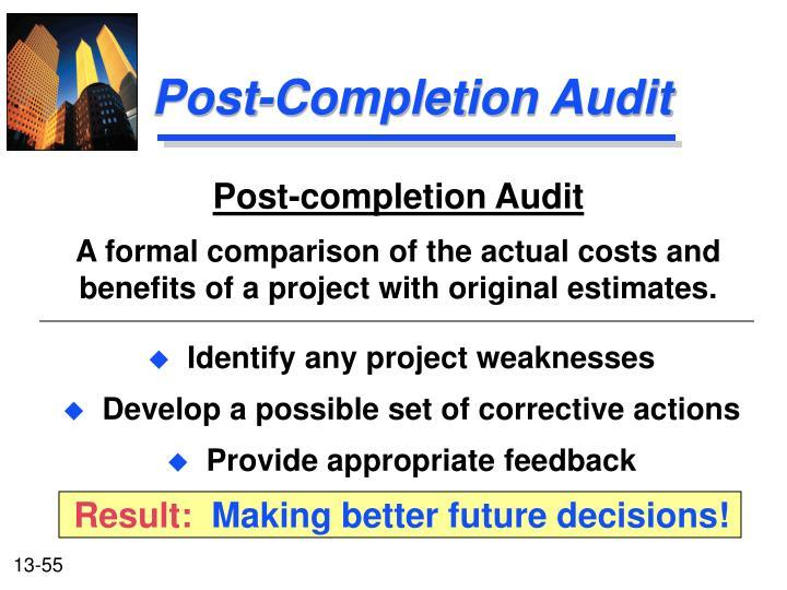 Post-completion Audit