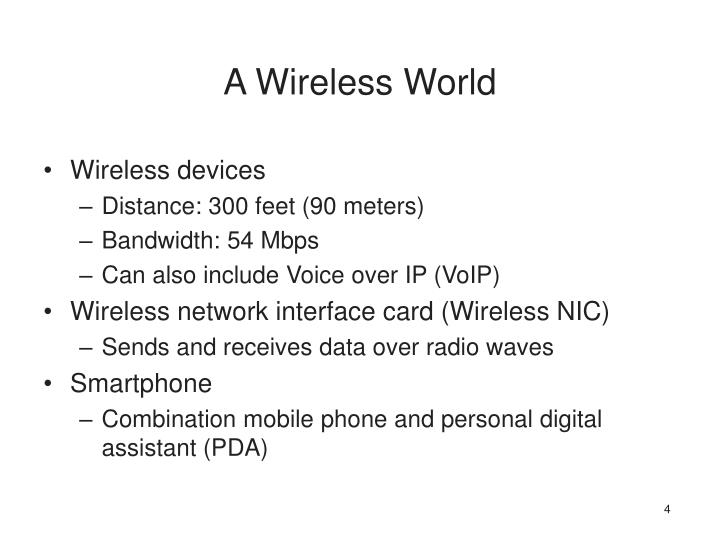 A Wireless World