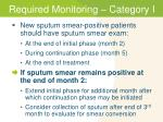 required monitoring category i