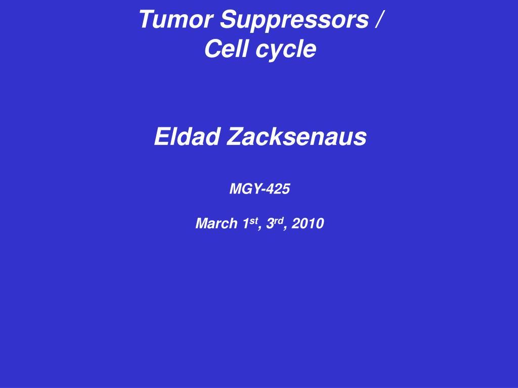 Tumor Suppressors /