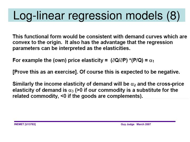 Log-linear regression models (8)
