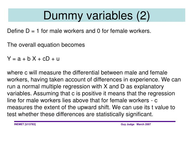 Dummy variables (2)