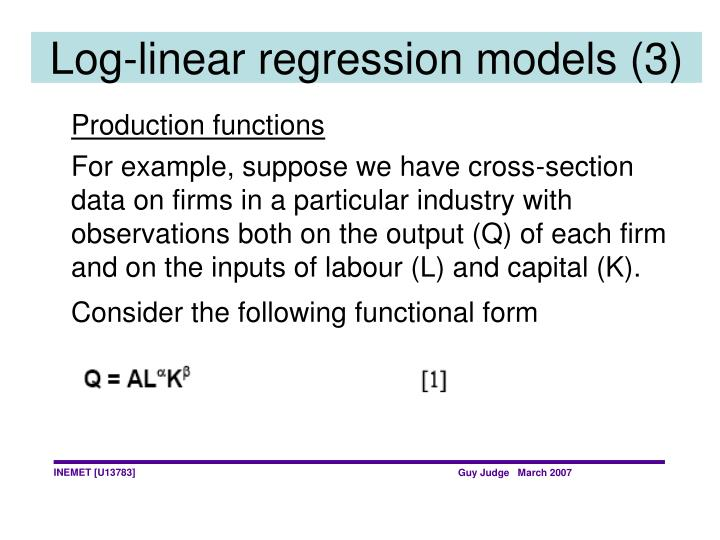 Log-linear regression models (3)