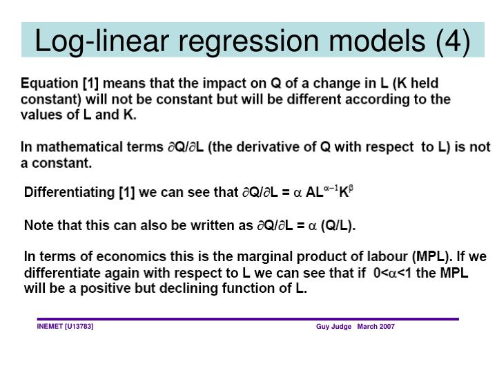 Log-linear regression models (4)