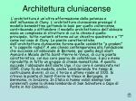 architettura cluniacense