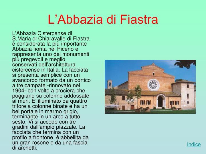 L'Abbazia di Fiastra