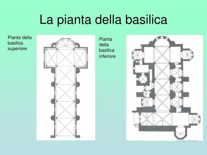 La pianta della basilica