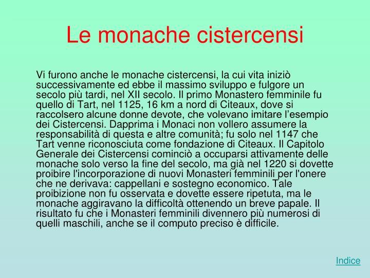 Le monache cistercensi