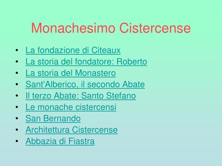 Monachesimo Cistercense
