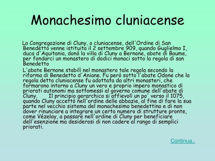 Monachesimo cluniacense