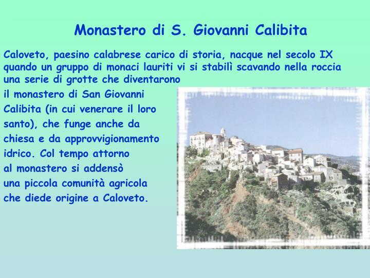 Monastero di S. Giovanni Calibita