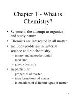 chapter 1 what is chemistry
