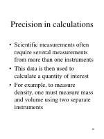 precision in calculations