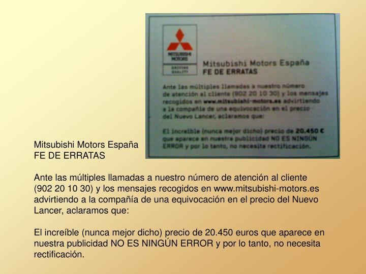Mitsubishi Motors España