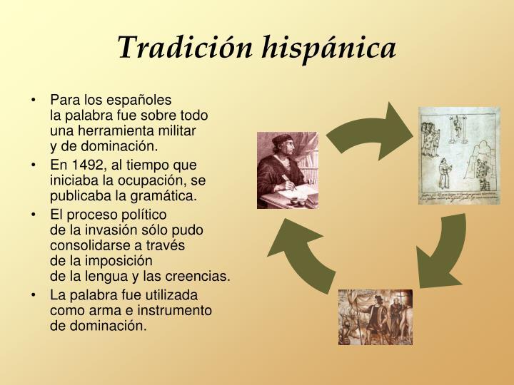 Tradición hispánica