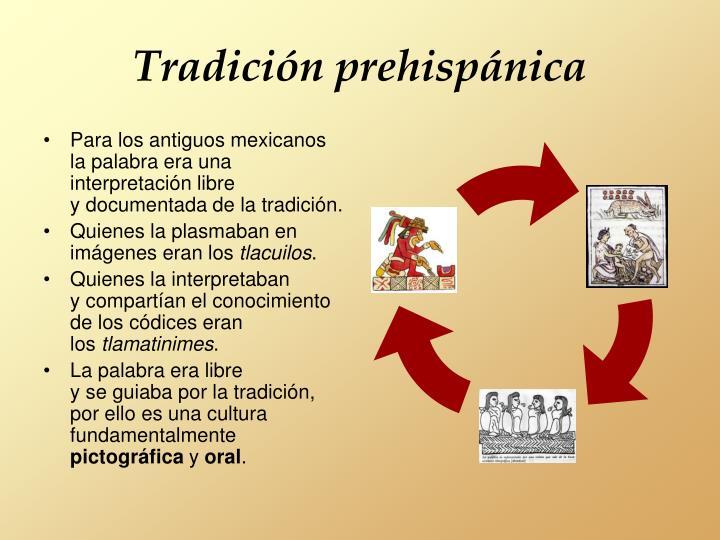 Tradición prehispánica