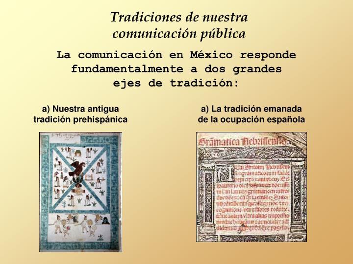 Tradiciones de nuestra